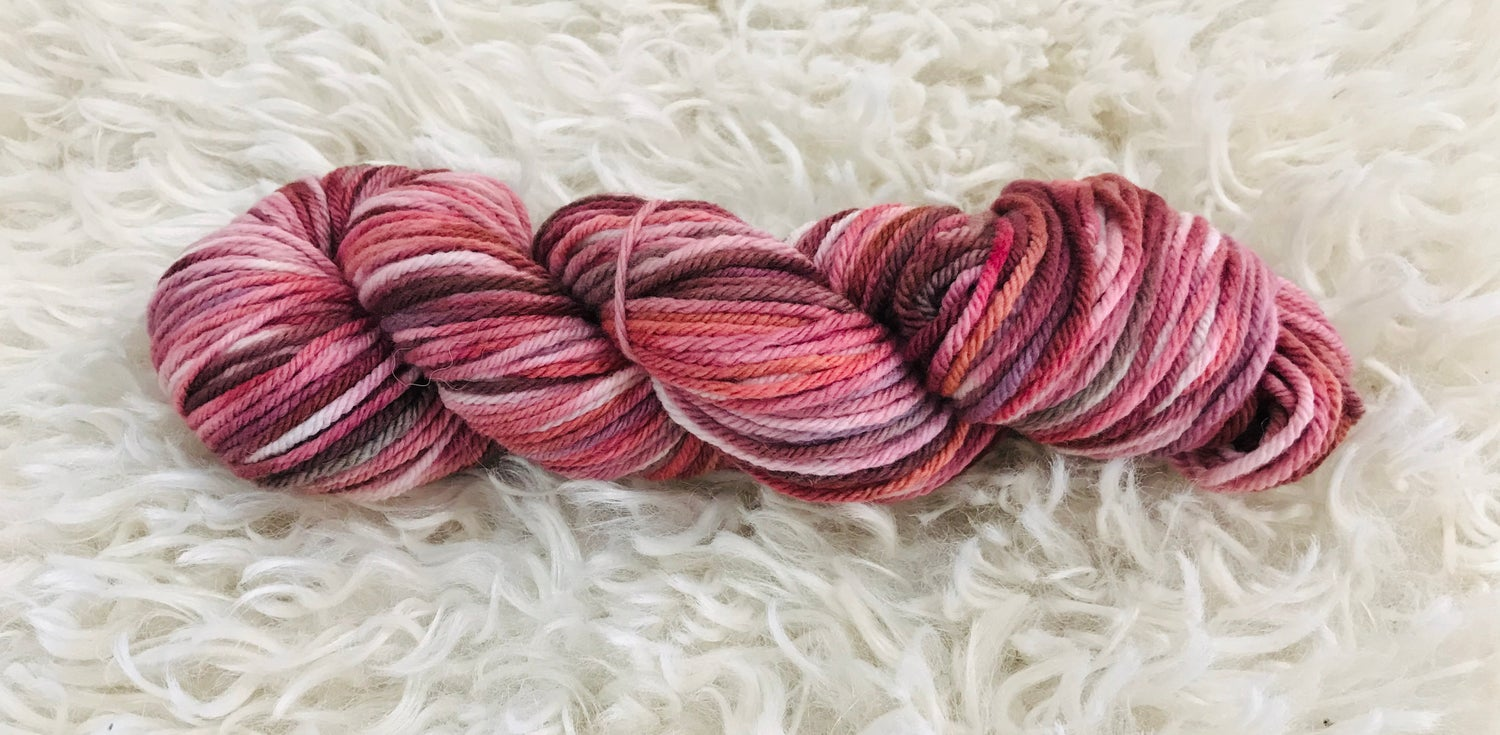 Image of Feeling Pinkish Hand Dyed 8 ply Wool