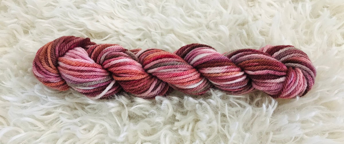 Feeling Pinkish Hand Dyed 8 ply Wool