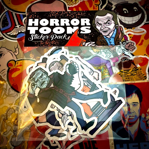 Image of Horror Toons Sticker Pack