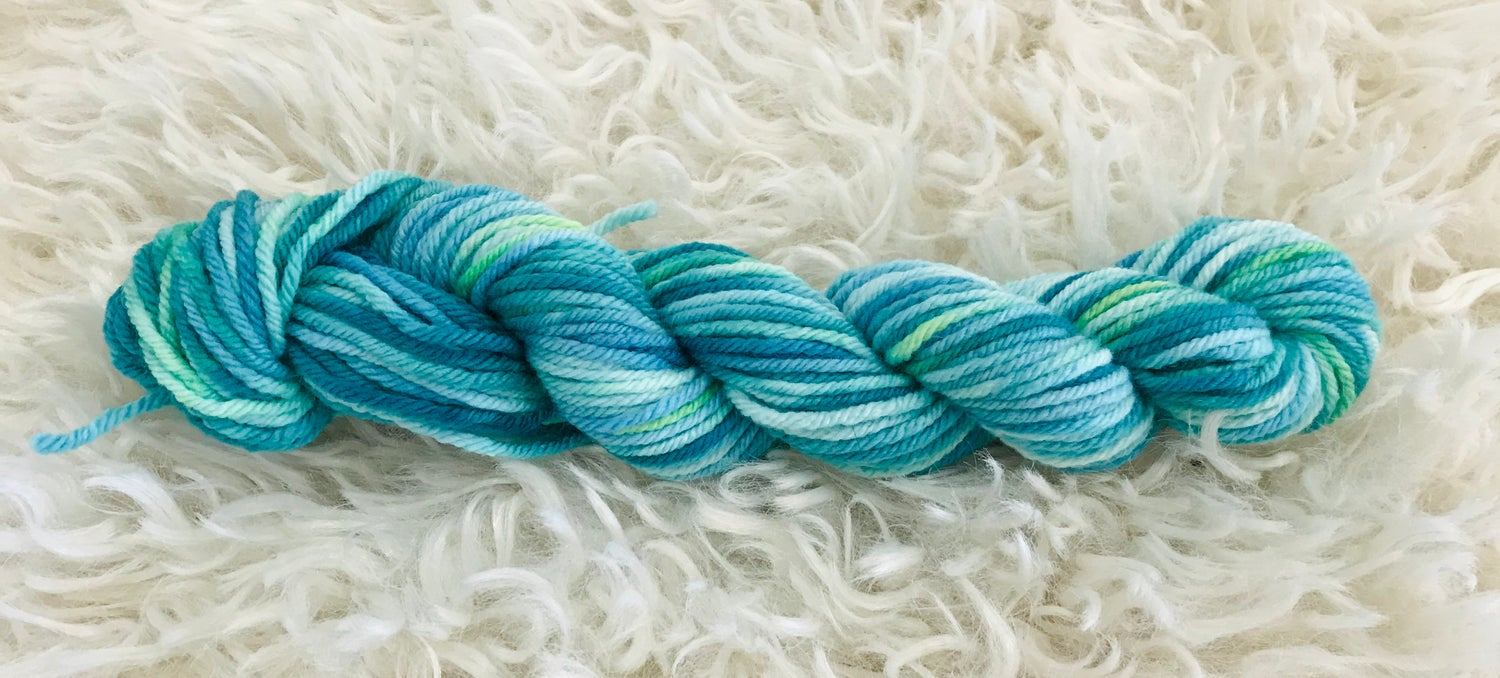Image of Peacock Blue Hand Dyed 8 ply Wool
