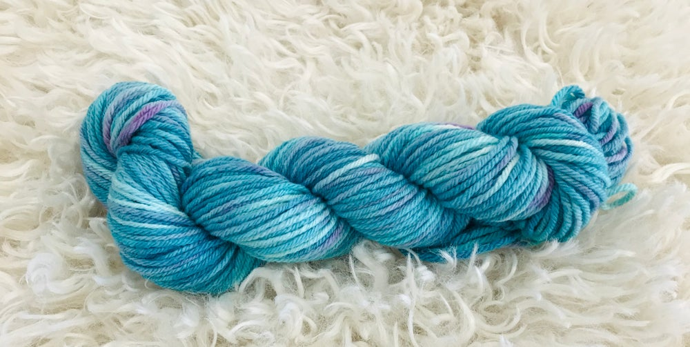 Image of Rockpool Blue & Greens Hand Dyed 8ply Wool