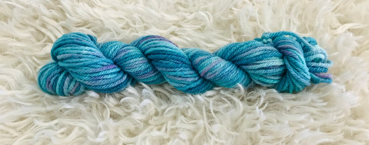 Rockpool Blue & Greens Hand Dyed 8ply Wool
