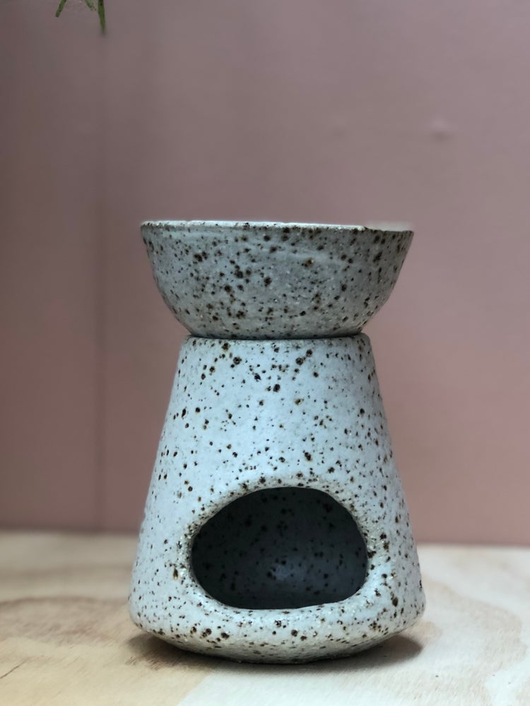 Image of Large granite oil burner