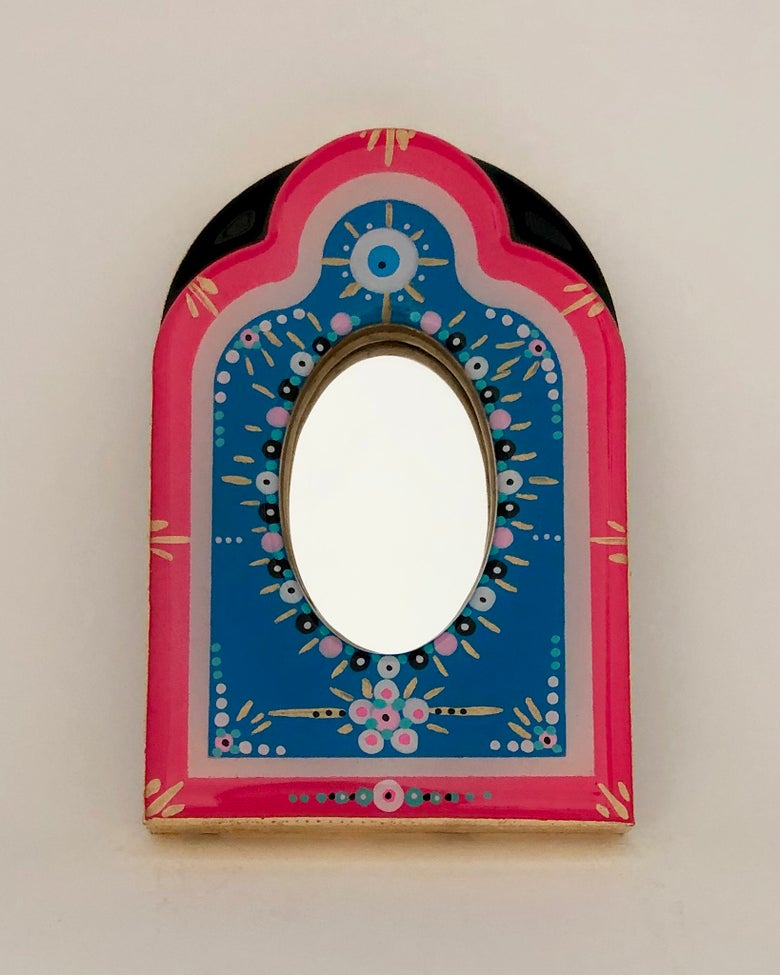 Image of Malocchio Mirror Blue/Hot Pink/Black