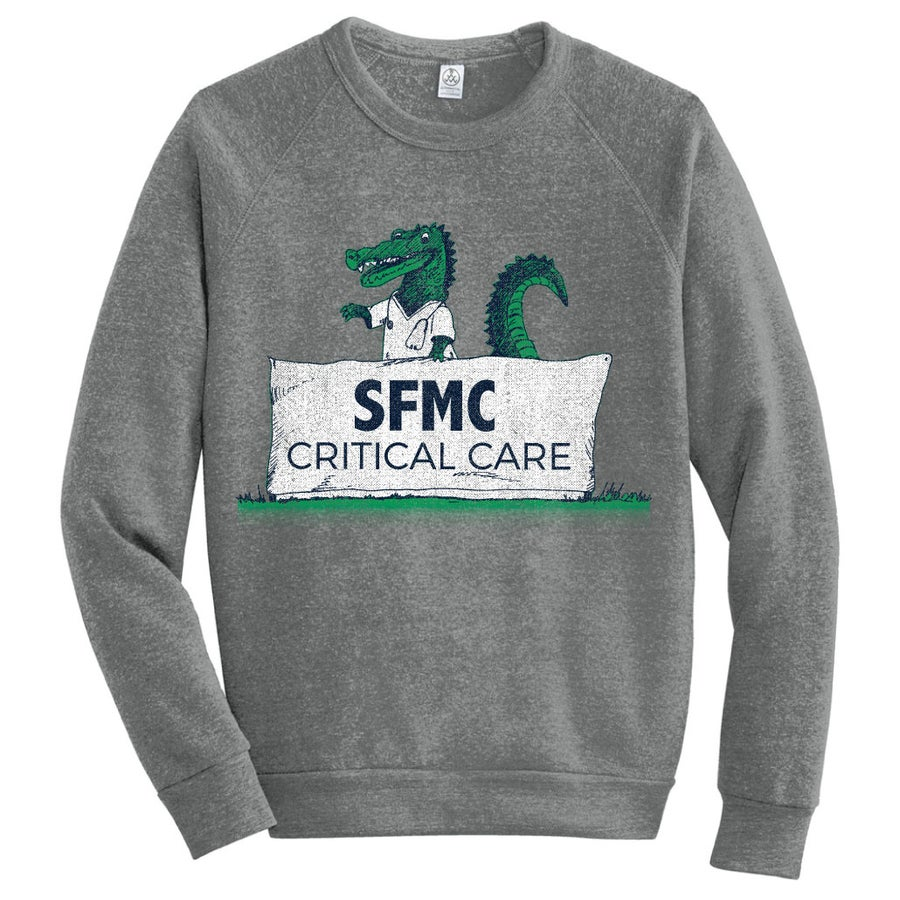 Image of St Francis Critical Care Pre Order- GRAY Sweatshirt