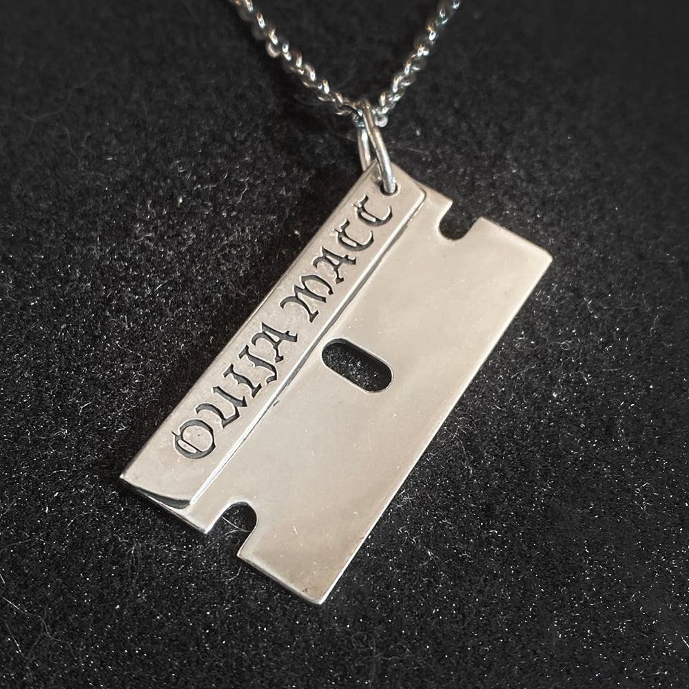 Image of Ouija Macc's Revossorc Razor chain & Pendant - Silver