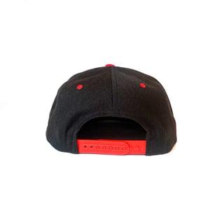 Image of Ouija Macc - Text logo - Snapback 2020 - Red Bill