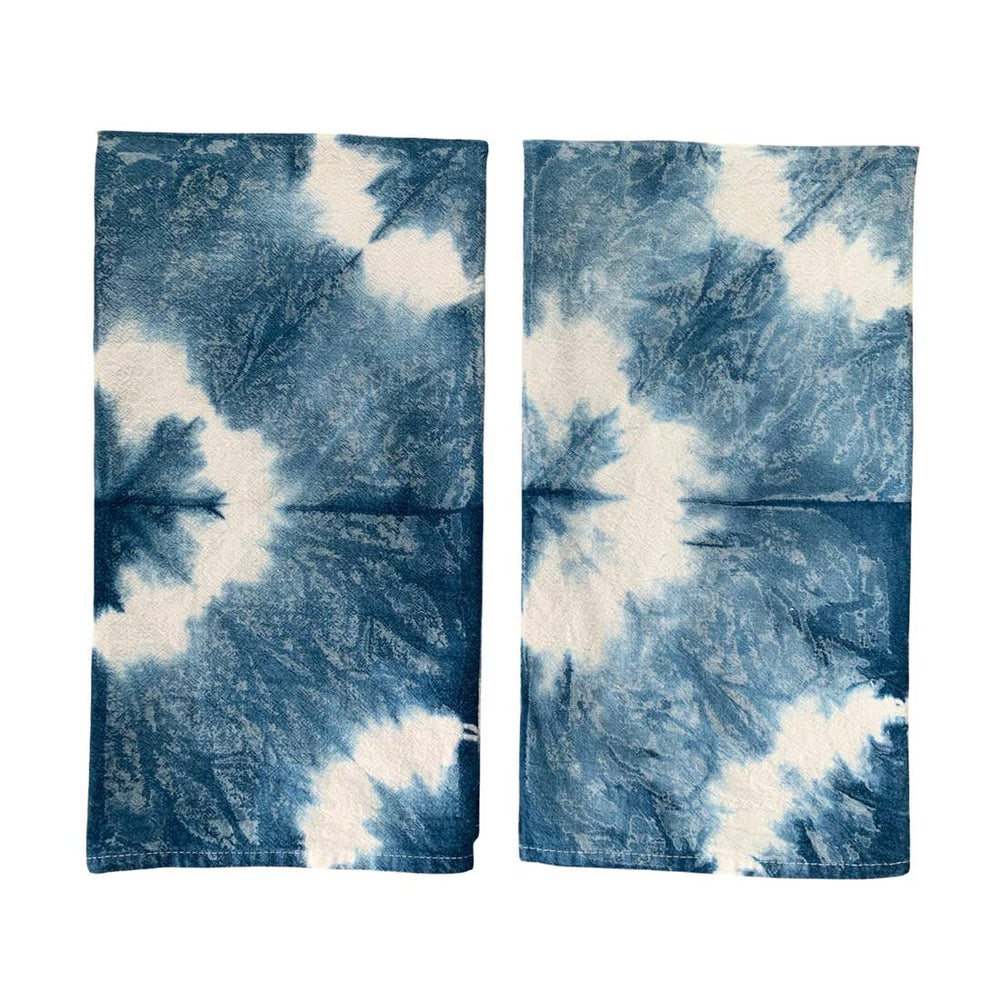 Image of Indigo Shibori Kitchen Towel-Stars