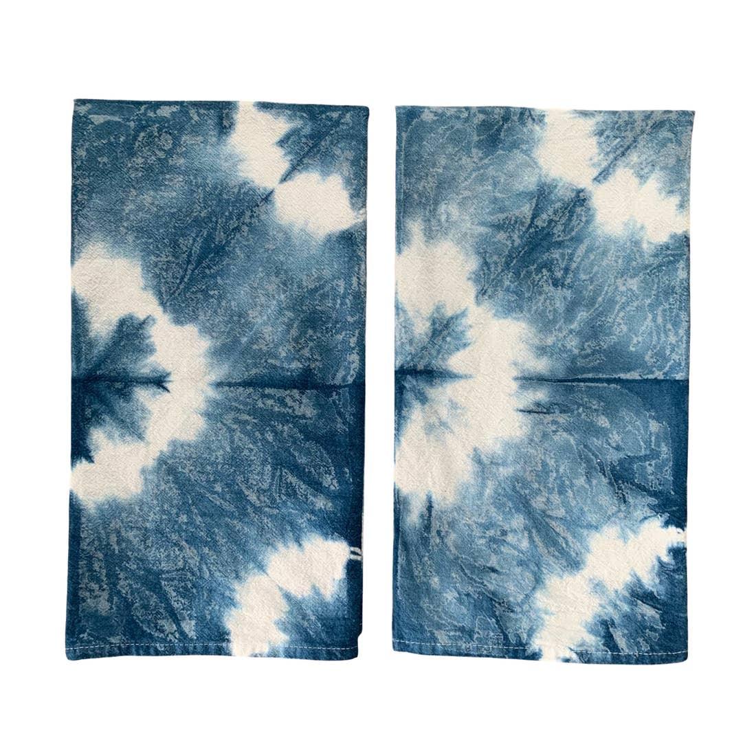 Image of Indigo Shibori Kitchen Towel-Stars