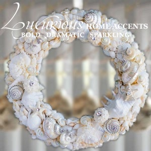 Image of Dazzle By The Sea Swarovski Crystal Sea Shell Wreath