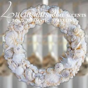 Image of Dazzle By The Sea Swarovski Crystal Sea Shell Wreath