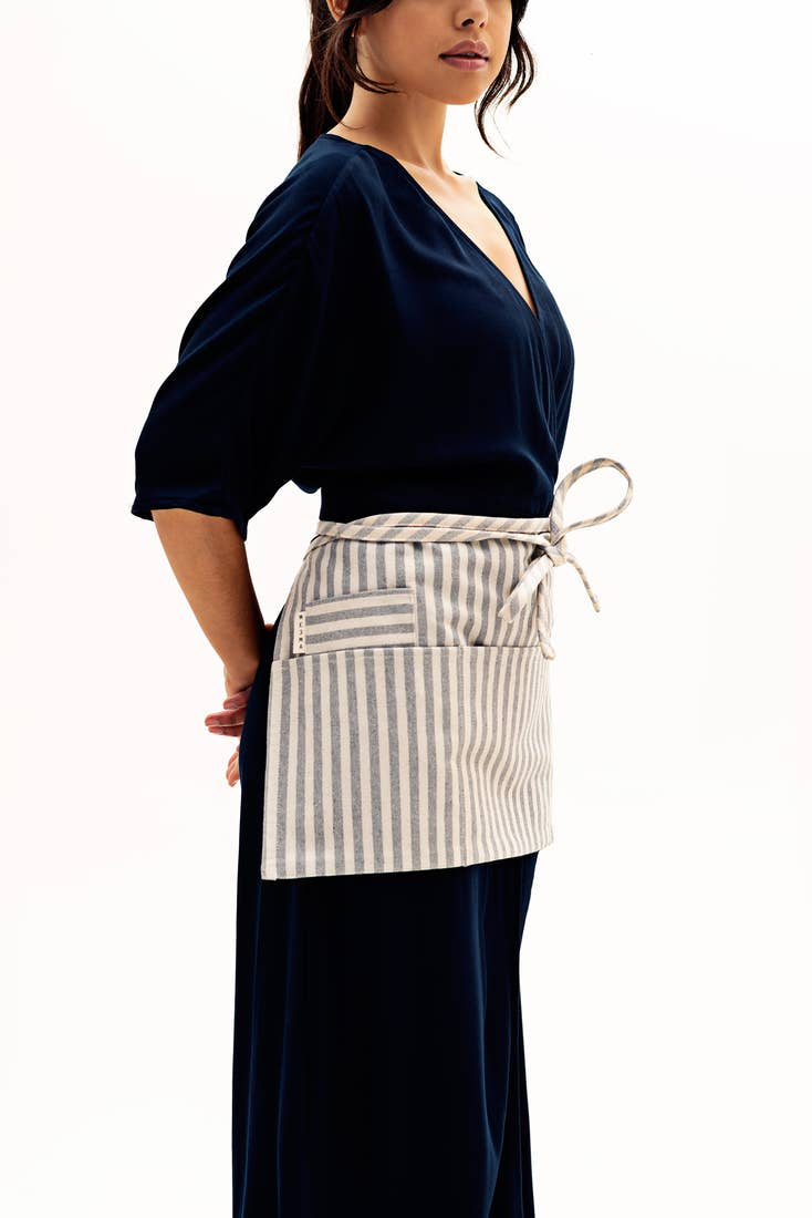 Image of Waist Apron-Denim or Stripe