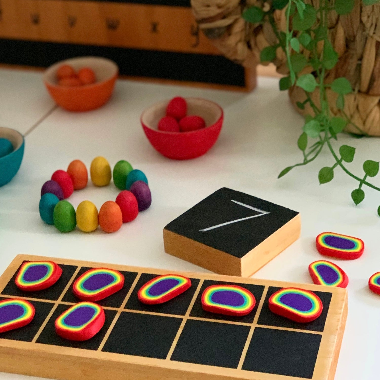 Image of Maths Counters (Rainbow Bullseye)