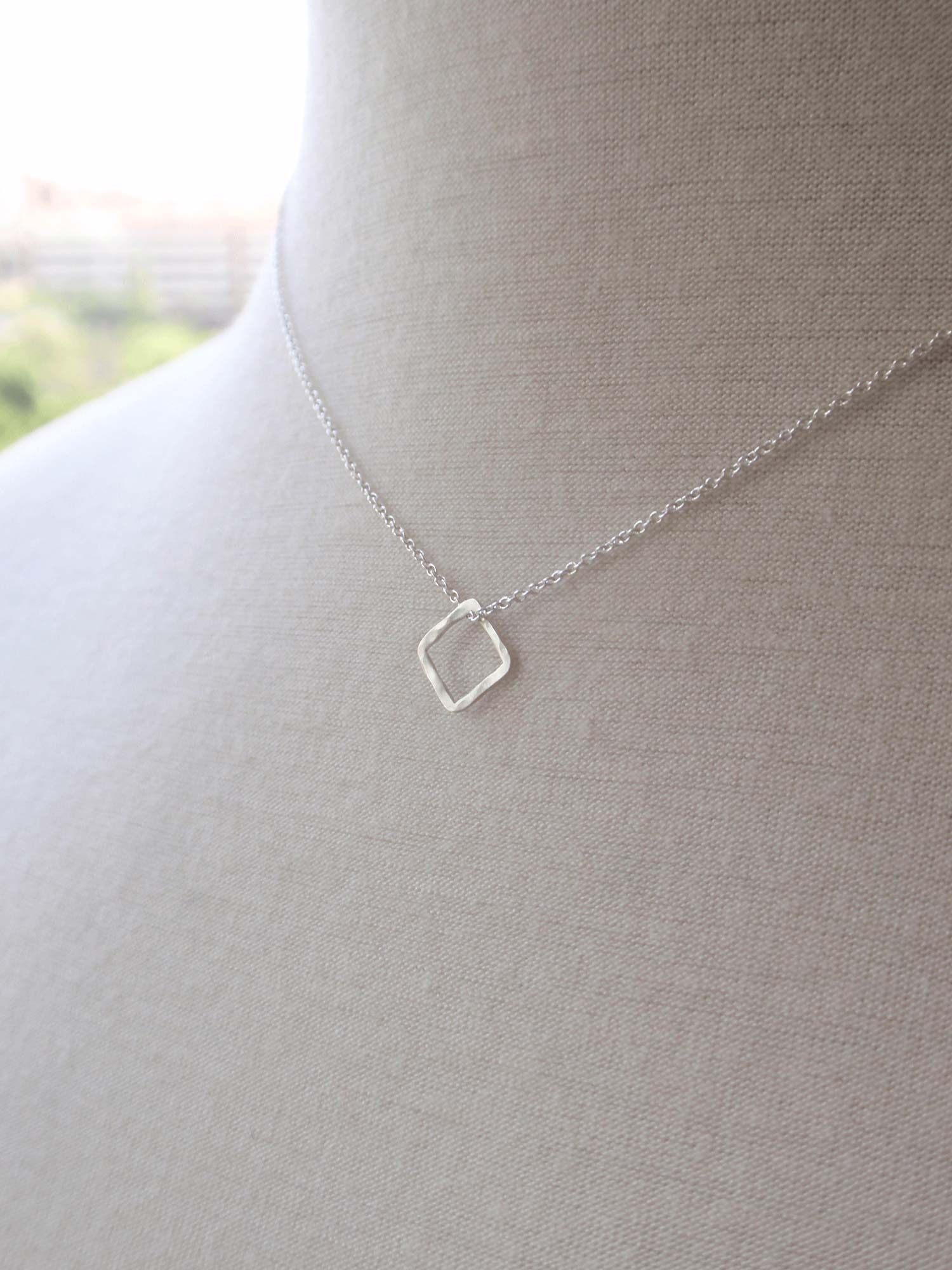 Image of Minimal Square Necklace