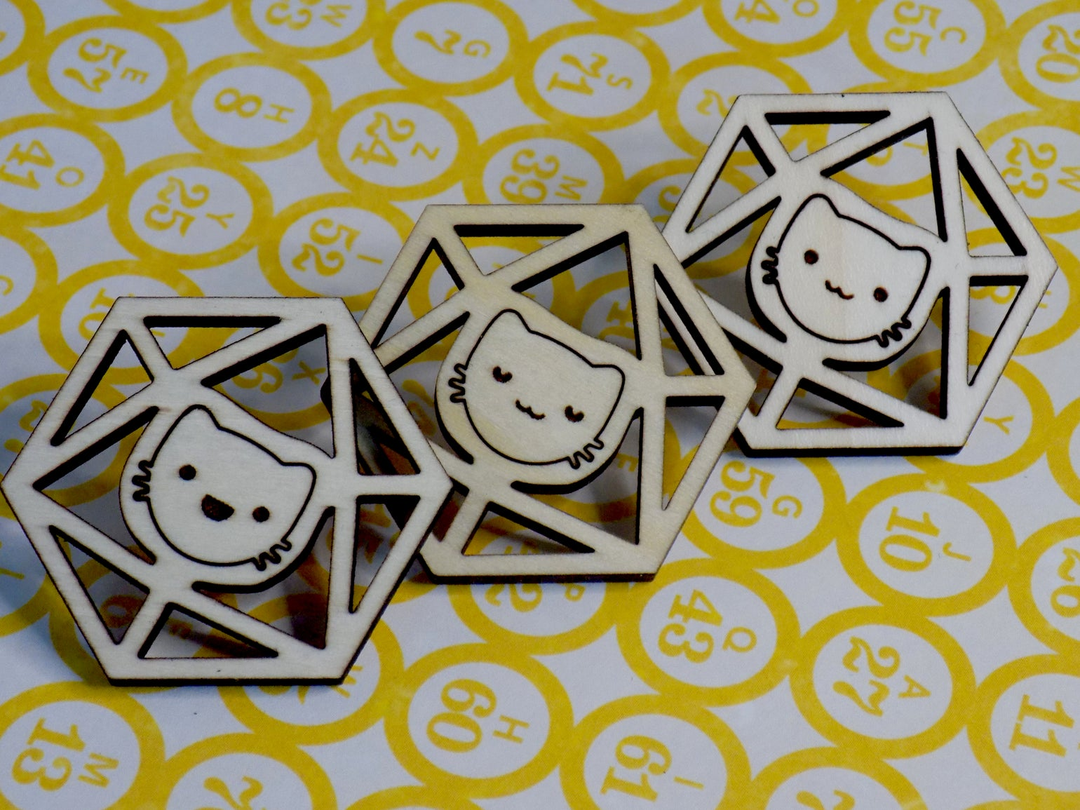 Image of Catical Hit Kitty d20 Pin