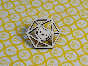 Catical Hit Kitty d20 Pin