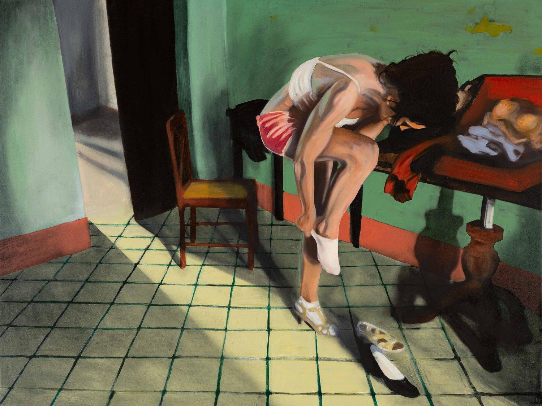Image of Dressingroom A4 print - Framed