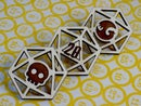 Image 1 of d20 Wooden Dice Pins
