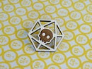Image 3 of d20 Wooden Dice Pins