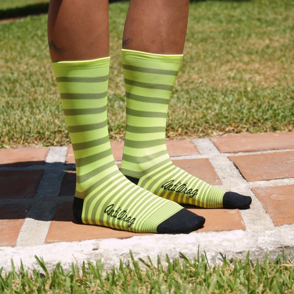 "Image of 5.5 inch ""Yellow & Lime"" Summer Sock"