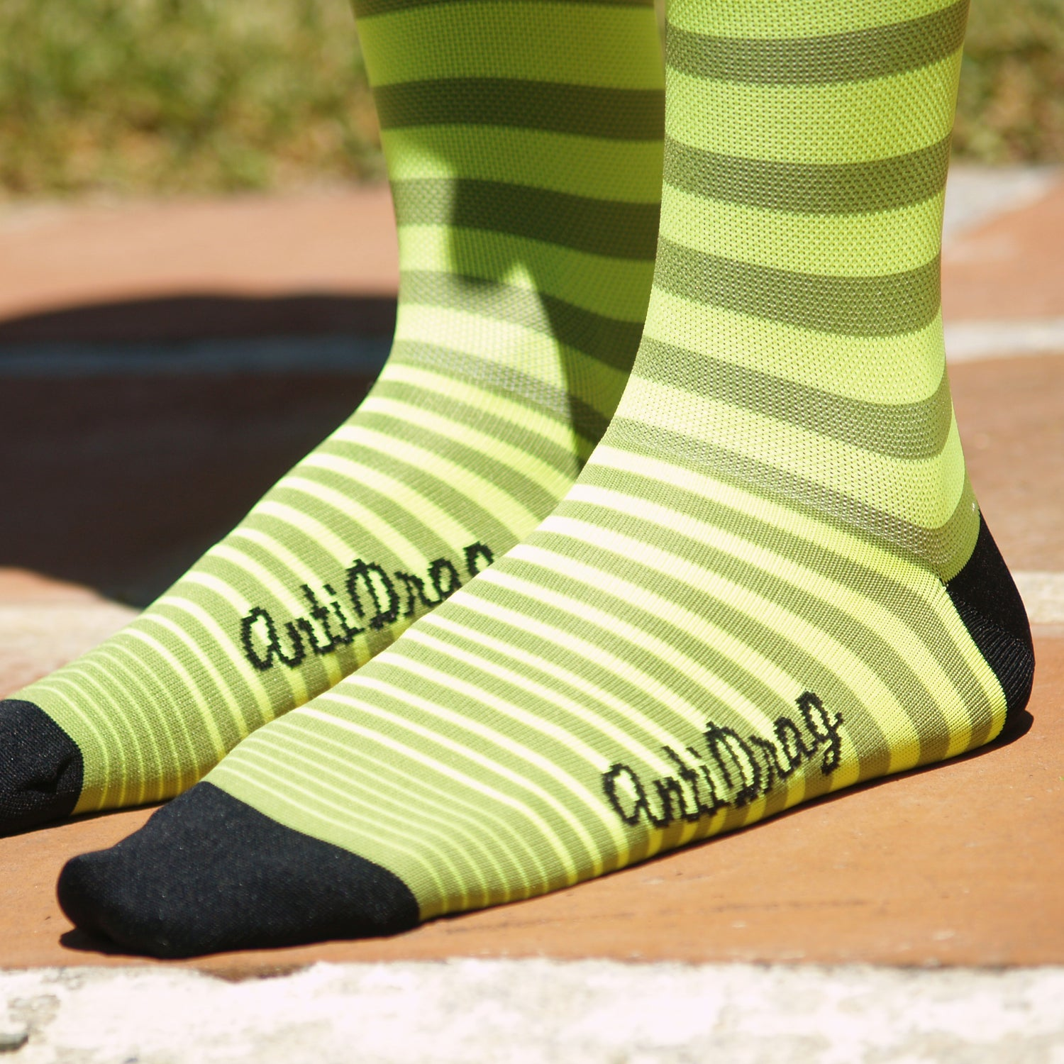 "Image of 6.5 inch tall ""Yellow & Lime"" Summer Sock"