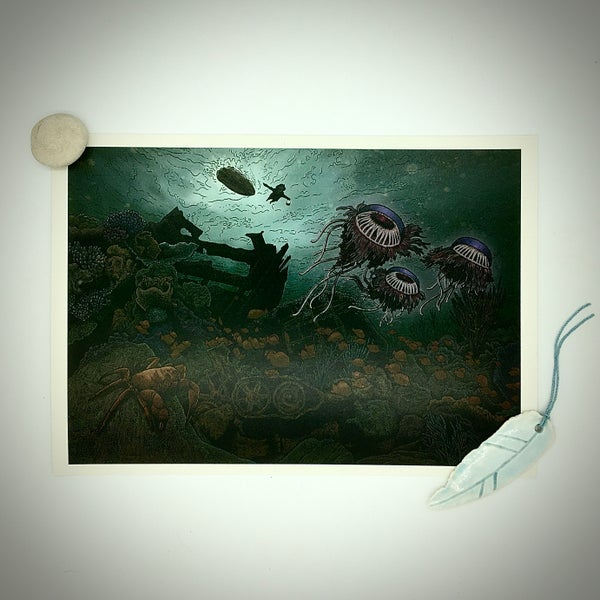 Image of Cryptogram Art Print | The Shipwreck