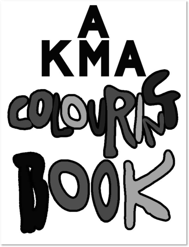 Image of KMA Colouring Book - Print Version