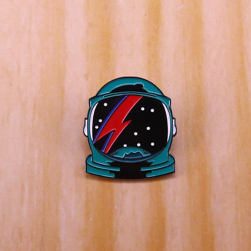 Bowie Inspired Spaceman Badge