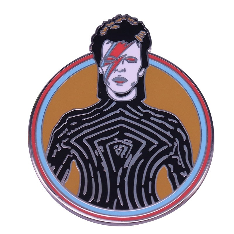 Bowie inspired Fashion Design Badge