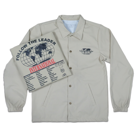 Image of Worldwide Coaches Jacket (Beige)
