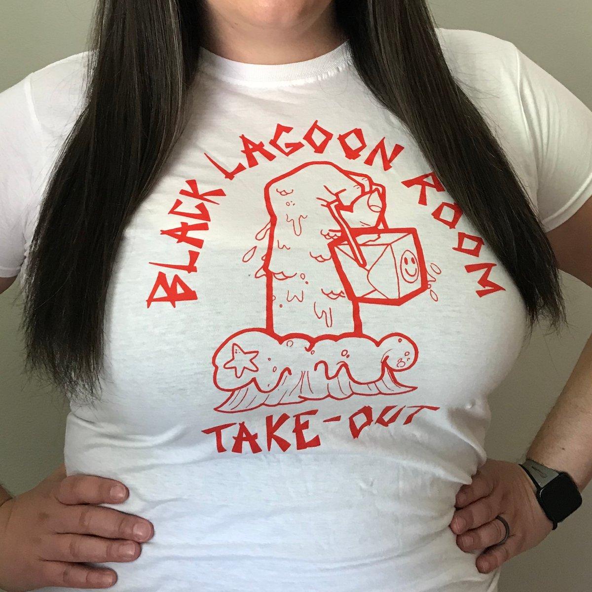 BLACK LAGOON ROOM Take-Out Ladies Cut Logo T-Shirt