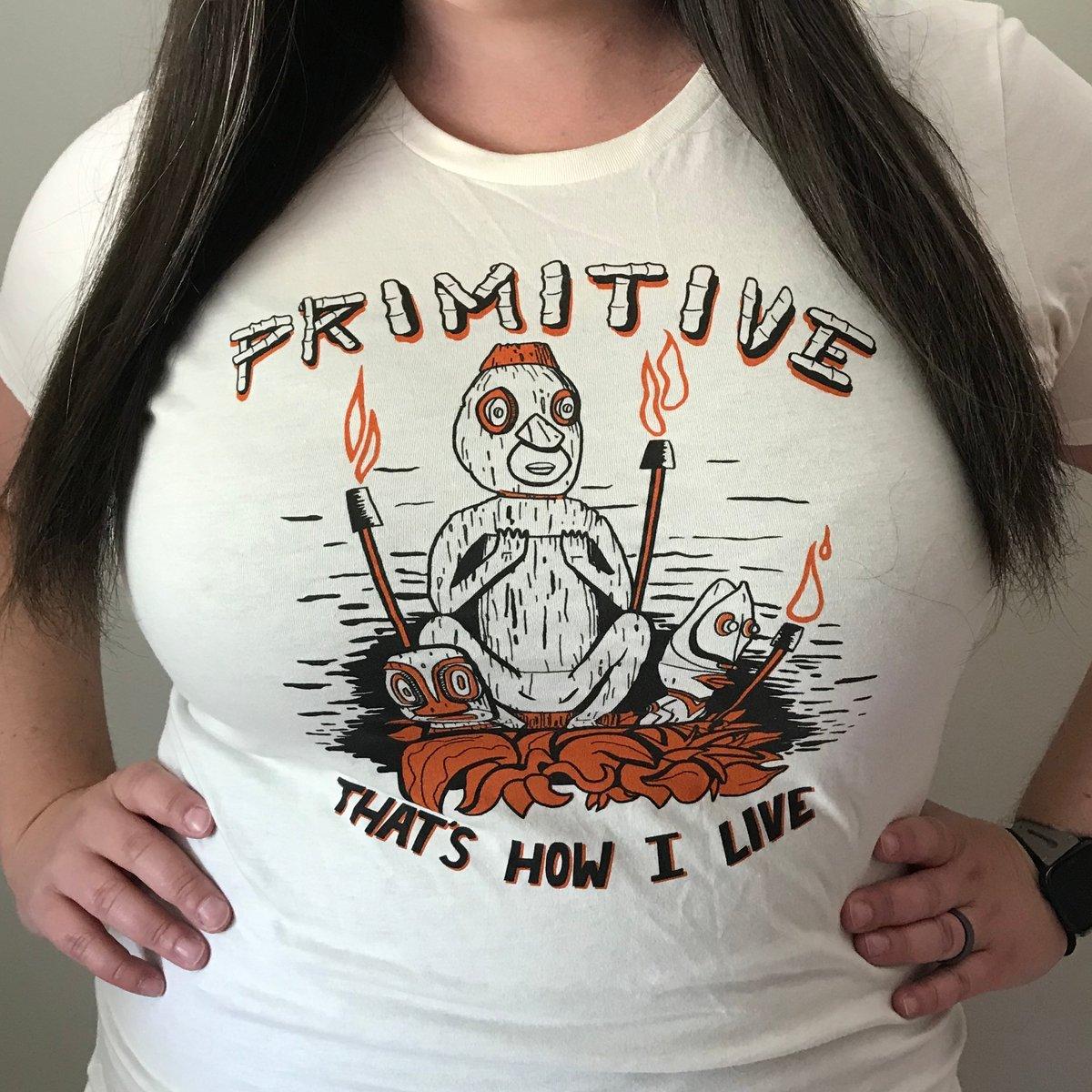 PRIMITIVE - THAT'S HOW I LIVE Tiki/Cramps mash-up Ladies Size T-Shirt