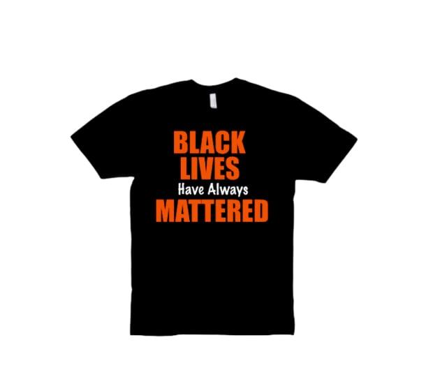 """Black/Orange """"BLM"""" Tee"""