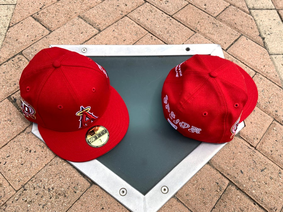 Image of The Savior x New Era RED  ANGELS Grey Brim 59fifty