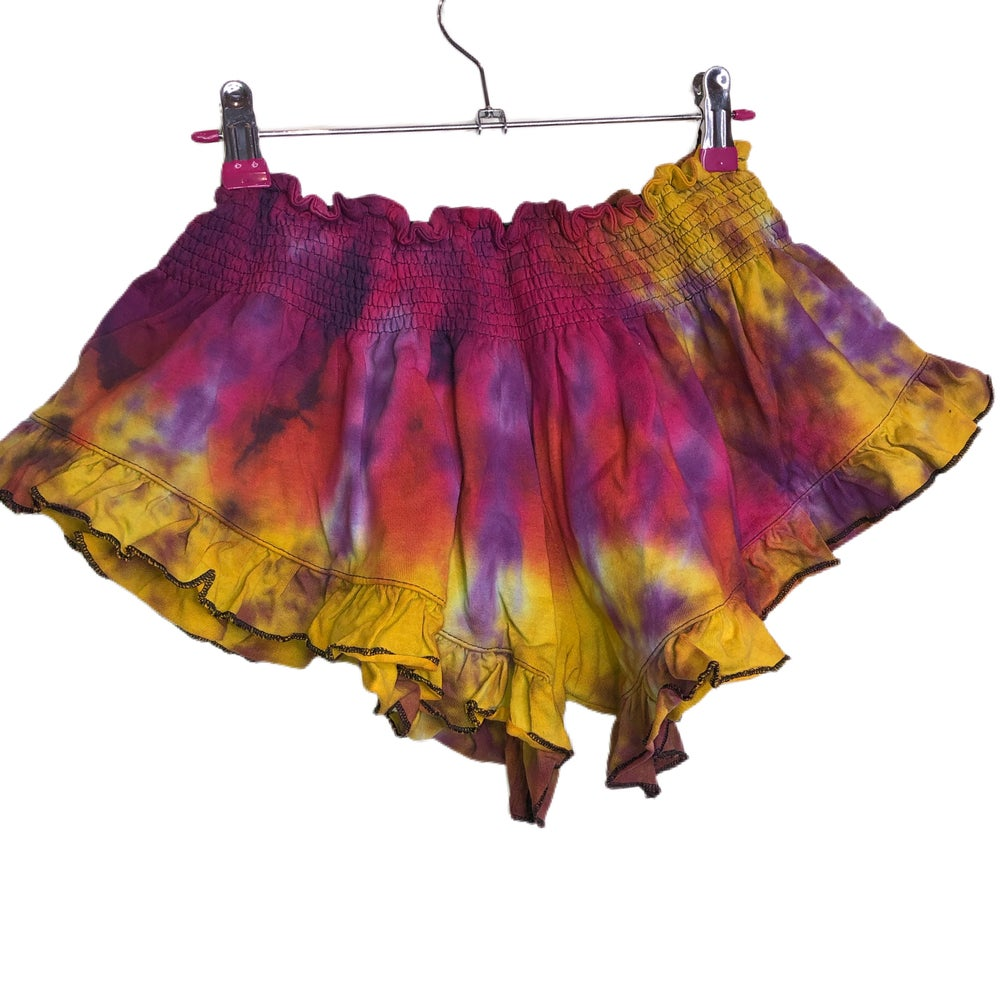 Image of Tie Dye Flutter Shorts