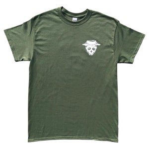 "Image of Military Green ""Bucket Skull"" Tee"