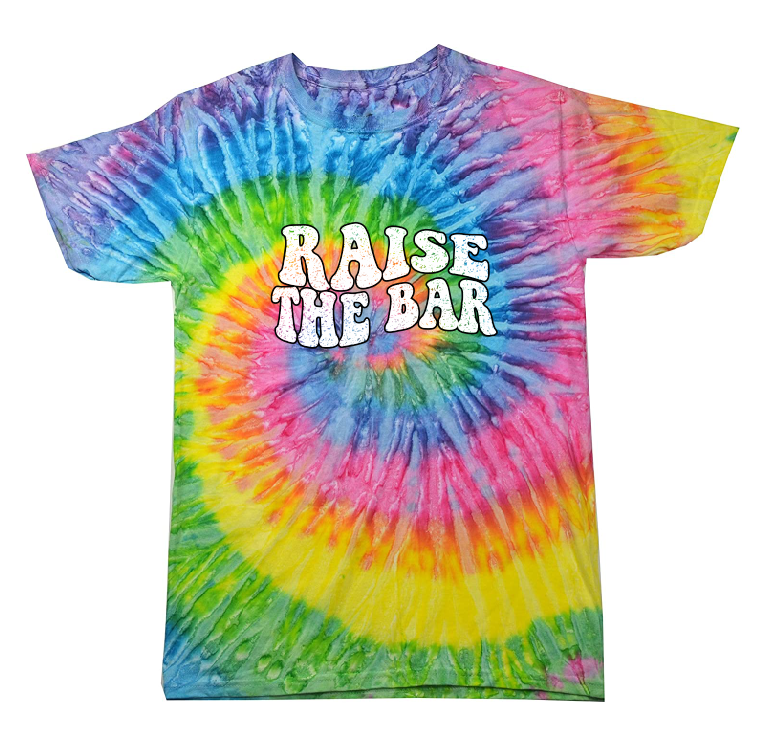 Image of Raise The Bar Vintage Design - Tie Dye NEW (SATURN)