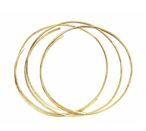 Image of HAMMERED SCULPTED BANGLES SET OF 3