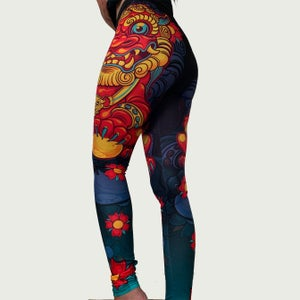 Image of Slowdown Foo Dog Leggings