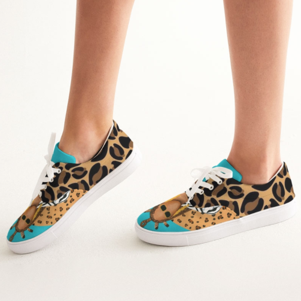 Image of Queen Already (Lace-Up Canvas Sneakers)