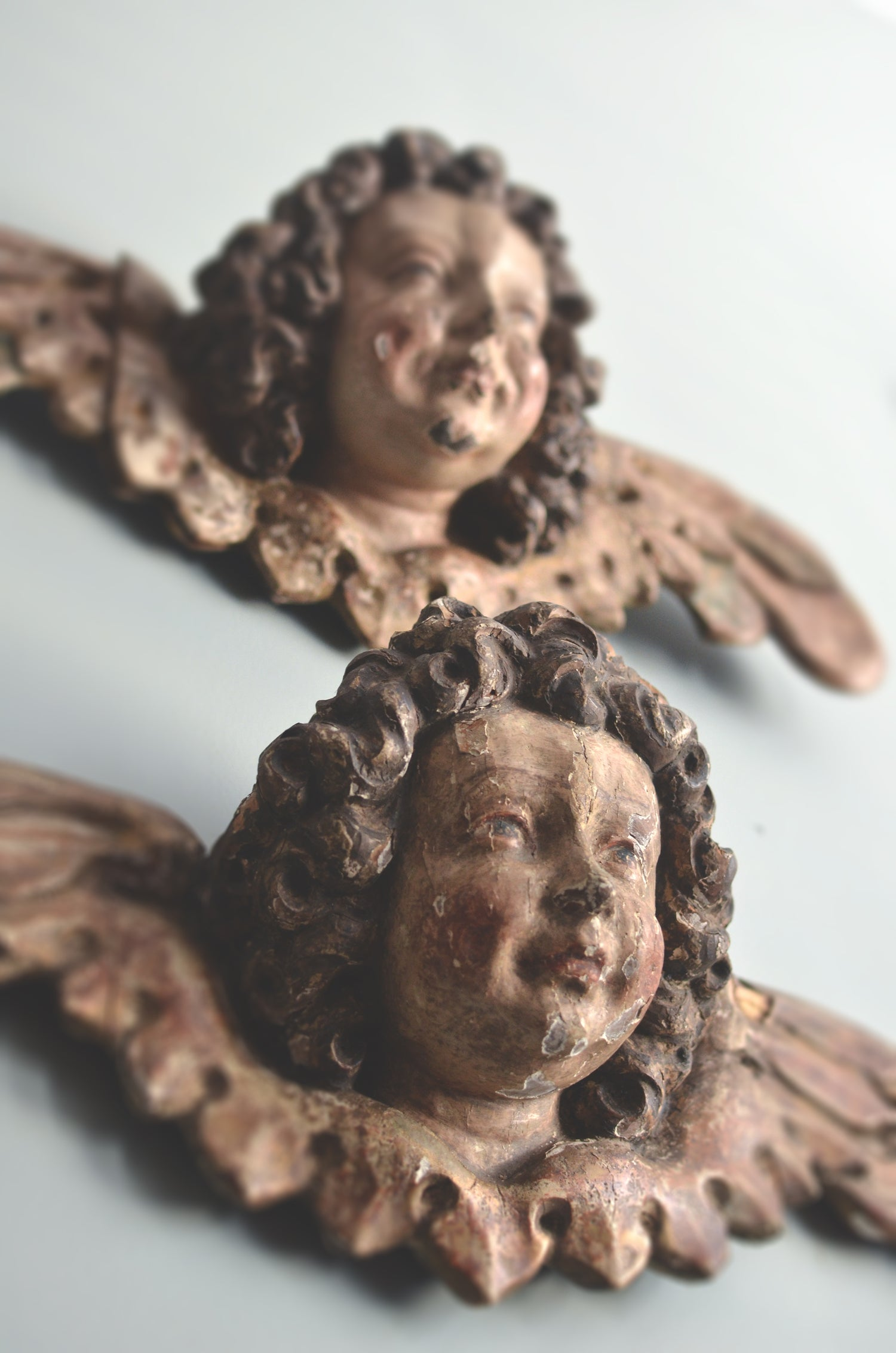 Image of Pair of early 16th century Ulmish winged putti