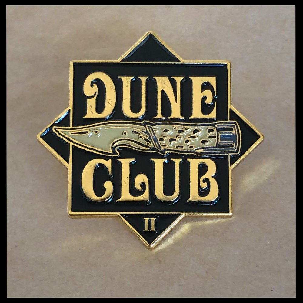 Dune Club II Enamel Pin & CBG19 Signed Litany Against Fear Prayer Card