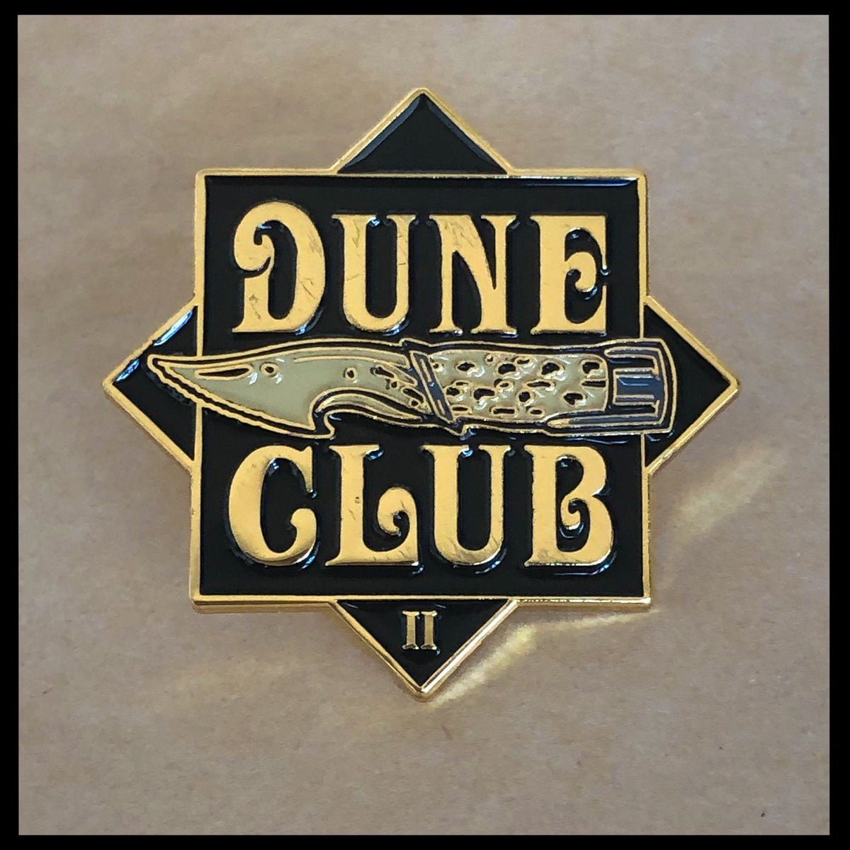 Image of Dune Club II Enamel Pin & CBG19 Signed Litany Against Fear Prayer Card