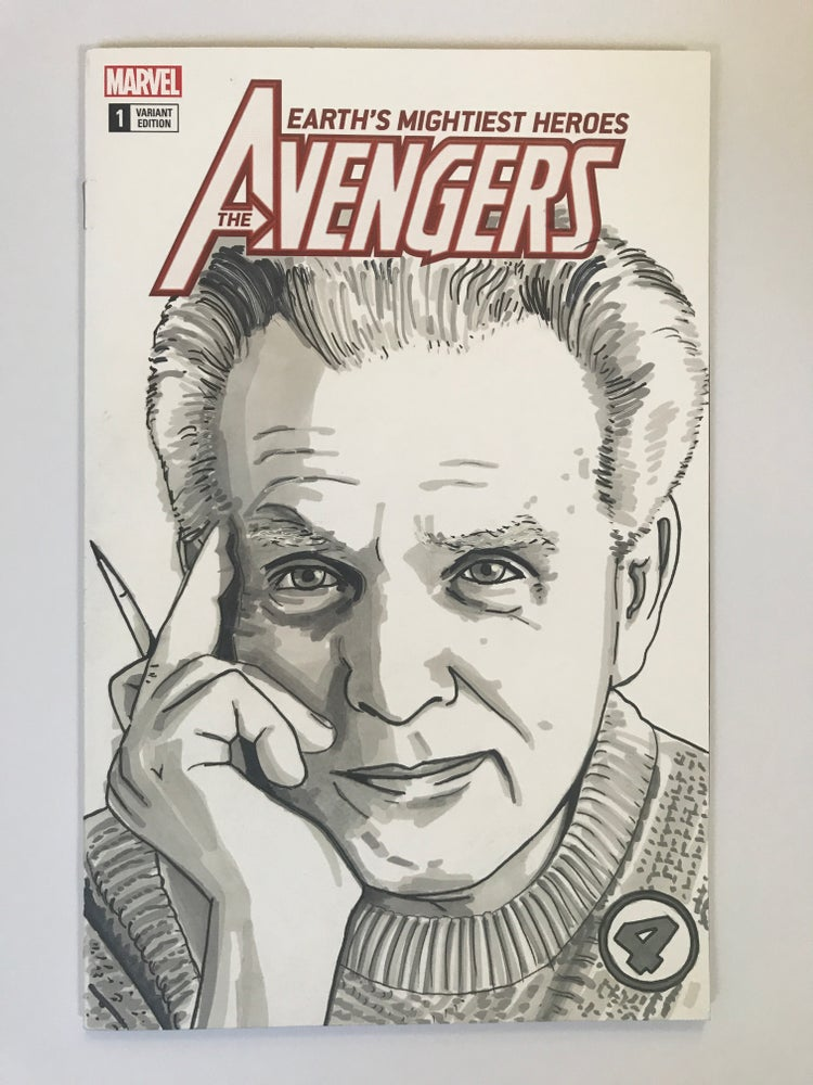 Image of Marvel Comics The Avengers #1 Sketch Cover with 'Jack Kirby' Original Art