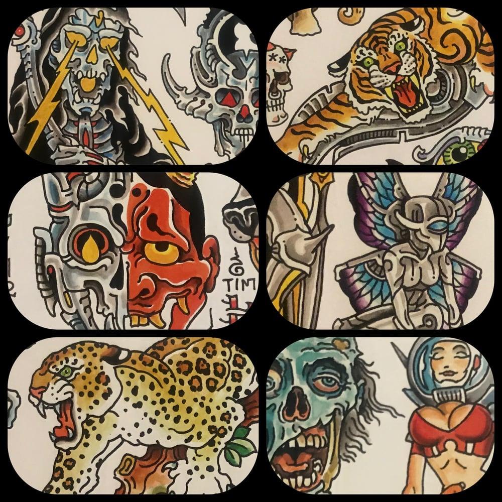 Image of Tim Lehi 2020 Tattoo Flash Set #1