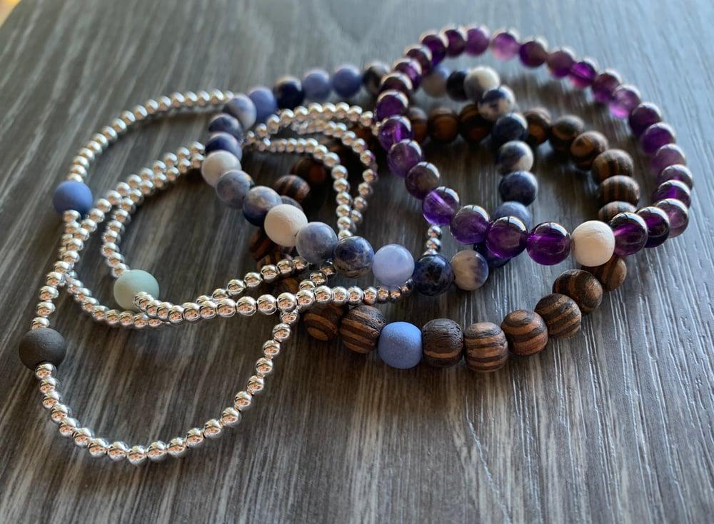 Image of Silver Bead Bracelets