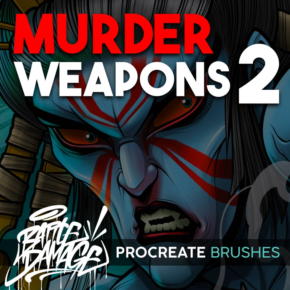 Image of Murder Weapons Brush 2 Set For Procreate