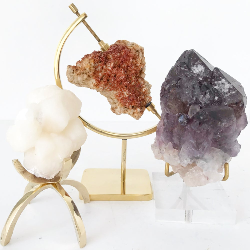 Image of Amethyst no.06 + Lucite and Brass Stand