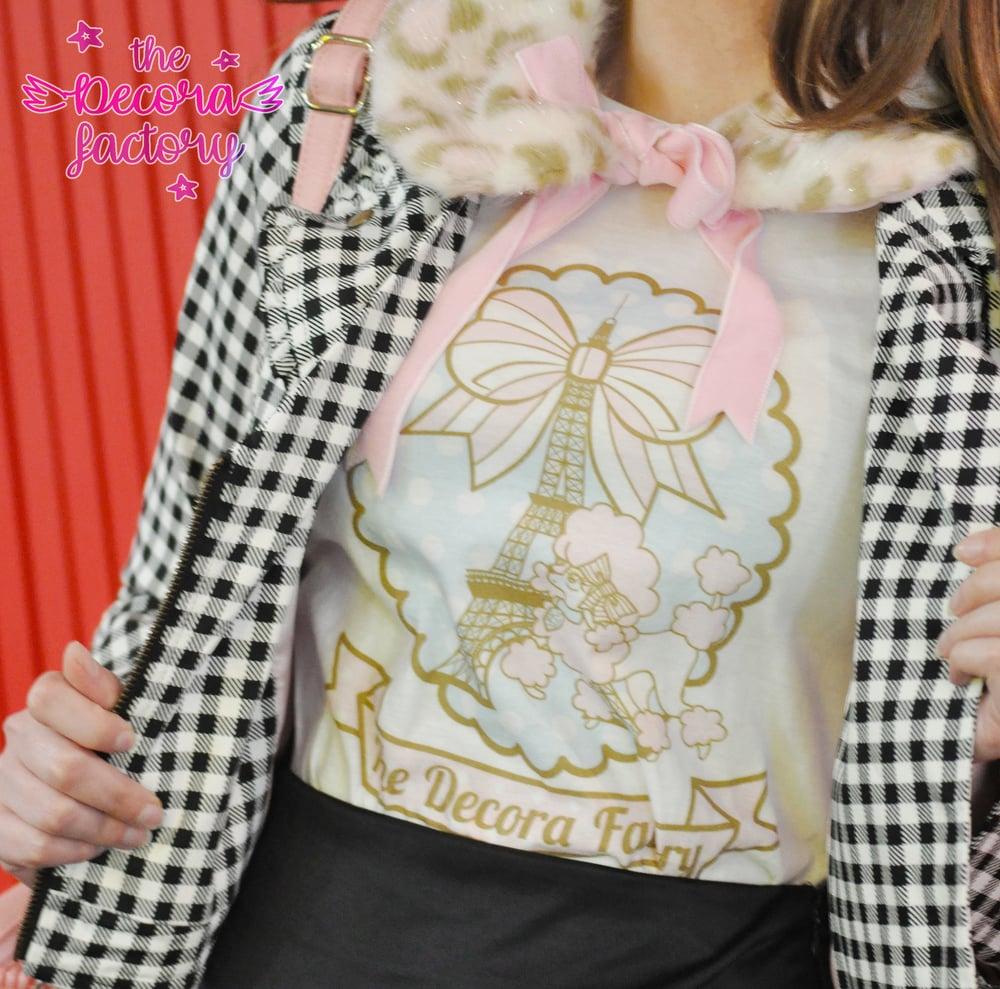 Image of Love me Paris Poodle Cotton T Shirt by The Decora Factory