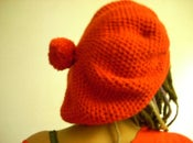 Image of Crocheted BIG RED Beret